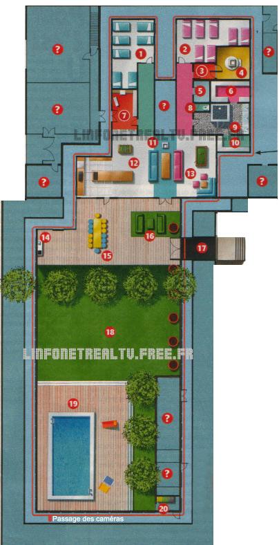 Secret story 8 plan de la maison - Maison de secret story ...